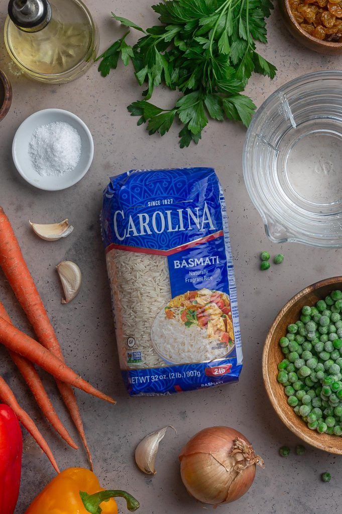 a package of Carolina Basmati Rice.