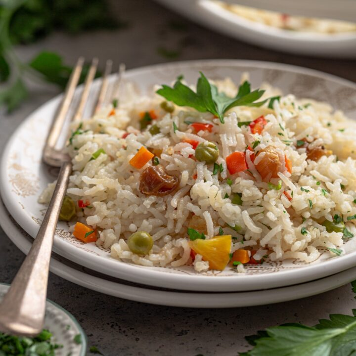 Arroz a Grega (Brazilian Greek Rice Pilaf)