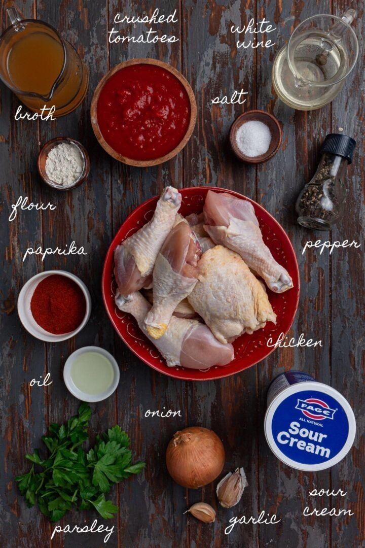 A photo of all the ingredients.