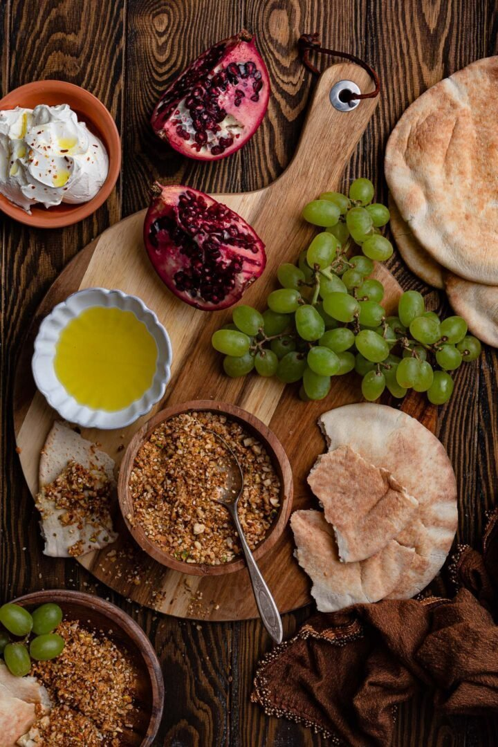 A Middle Eastern inspired appetizer board.