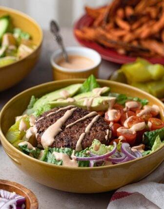 Plant-Based Burger Bowls