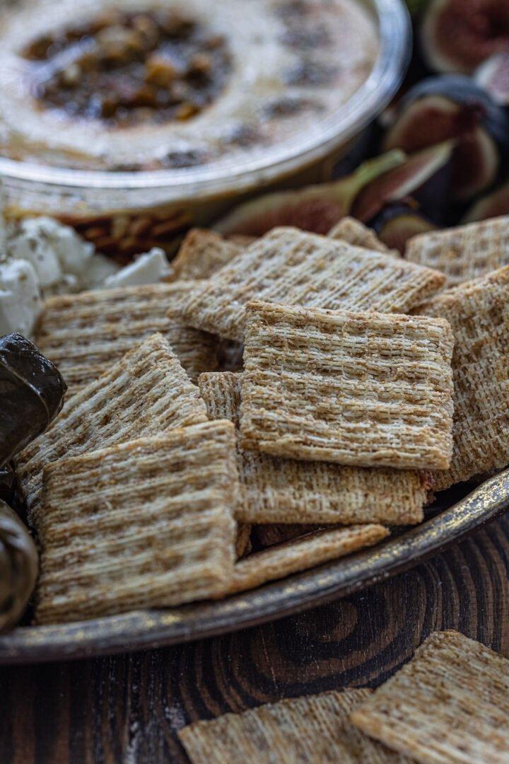 TRISCUIT crackers on a mezze platter.