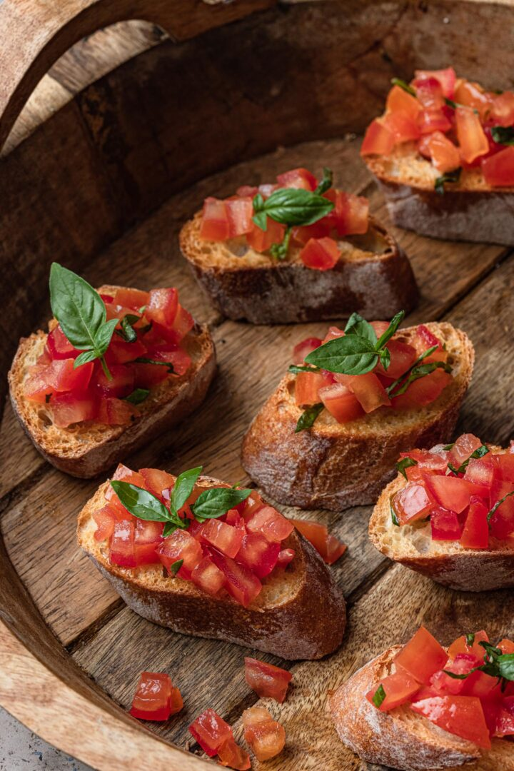 7 tomato bruschette.