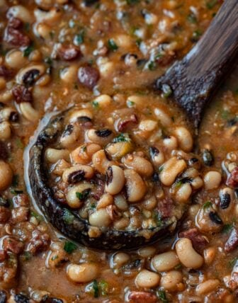 Black-Eyed Peas with Bacon and Sausage