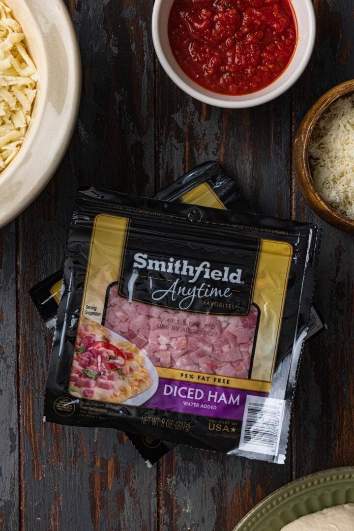 Smithfield Anytime Diced Ham.